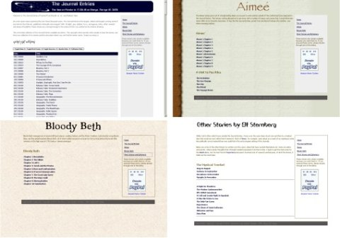 Four screenshots of the Narrator program with four separate themes.